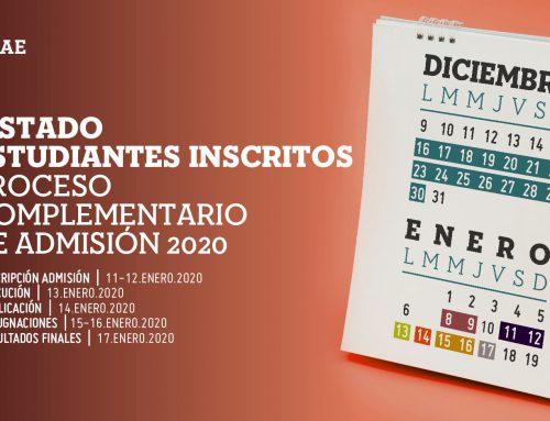 Listado de Estudiantes Inscritos en el Proceso Complementario de Admisión Primer Periodo 2020