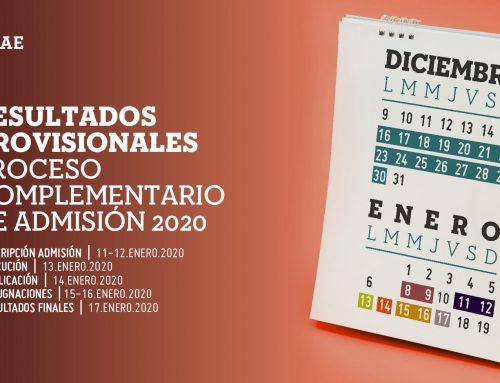 Publicación de resultados provisionales del programa de admisión de la UNAE para el primer periodo académico 2020