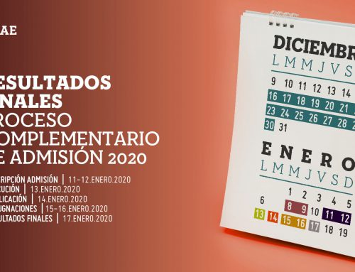 Publicación de resultados finales del programa complementario de admisión de la UNAE para el primer periodo académico 2020