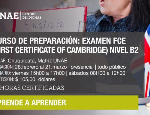 Curso de preparación para el examen FCE (First Certificate of Cambridge) Nivel B2