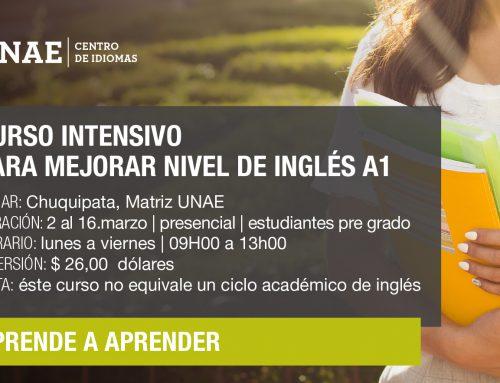 CURSO INTENSIVO PARA ESTUDIANTES DE PRE GRADO QUE DESEAN MEJORAR NIVEL DE INGLÉS A1