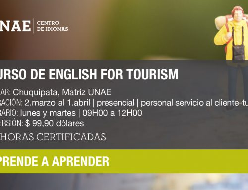 Curso de English for Tourism