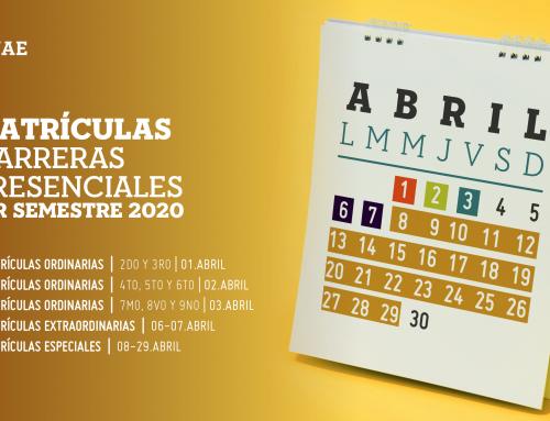 PERÍODO DE MATRÍCULASIS 2020– CARRERAS PRESENCIALES