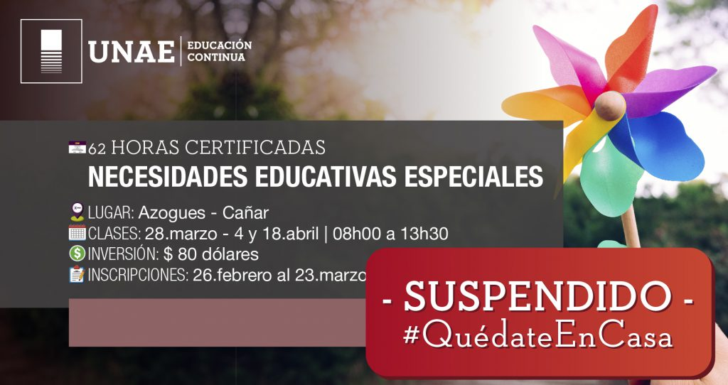 Curso Semipresencial Necesidades Educativas Especiales: estrategias de intervención innovadoras
