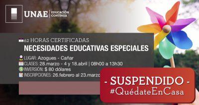 Curso Semipresencial Necesidades Educativas Especiales: estrategias de intervención innovadoras.