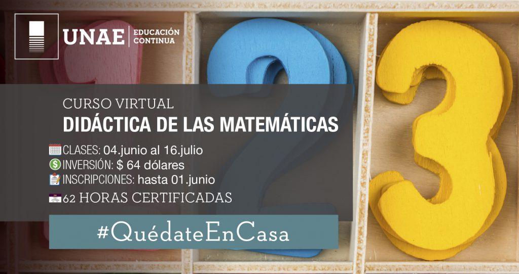 Curso virtual Didáctica de la Matemática