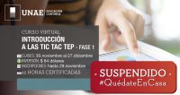 Curso Virtual TICTACTEP Fase 1 Suspendido