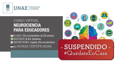 Curso virtual: Neurociencia para educadores Cancelado
