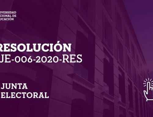 Resolución: Junta Electoral