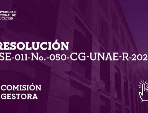 Resolución: Comisión Gestora
