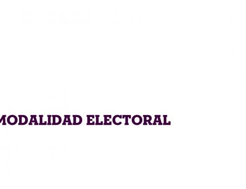 Modalidad de votación y verificación de datos, Proceso Electoral UNAE 2020