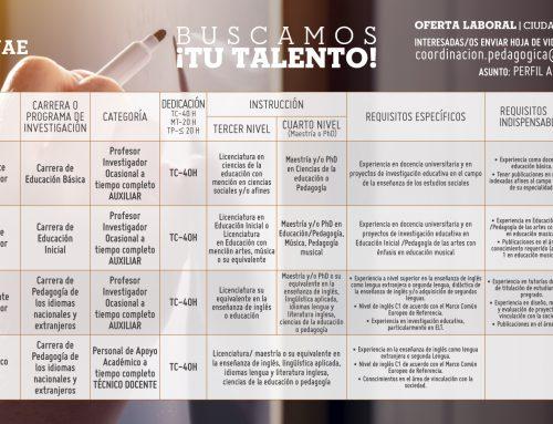 Convocatoria: postulaciones para el ingreso de personal Académico No Titular Ocasional
