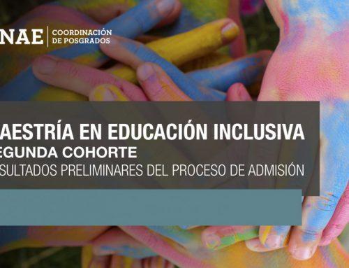 Resultados de proceso de preinscripción Maestría en Educación Inclusiva