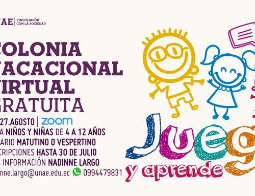 Colonia vacacional Juega y Aprende para niños y niñas de 4 a 12 años
