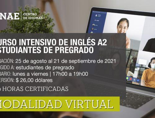 CURSO INTENSIVO DE INGLÉS A2 PREGRADO
