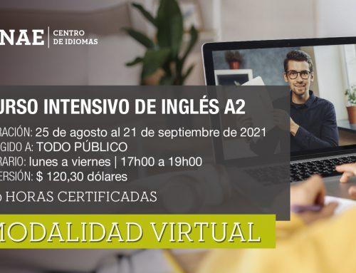 CURSO INTENSIVO DE INGLÉS A2 PÚBLICO GENERAL