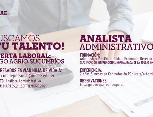 Oferta Laboral, Analista Administrativo