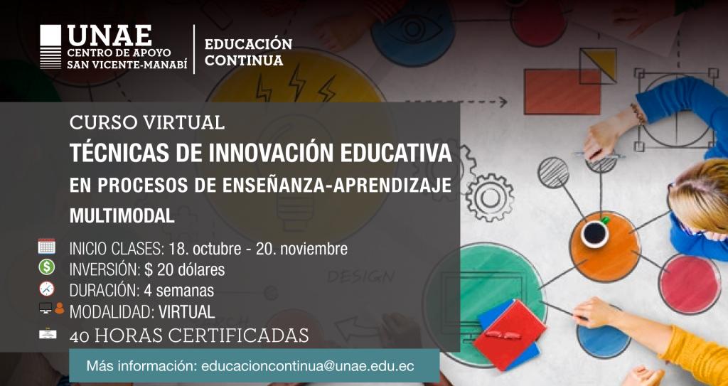 Curso Técnicas de innovación educativa