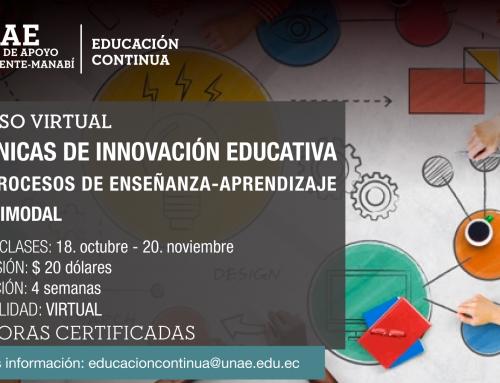 Técnicas de innovación educativa en procesos de  enseñanza-aprendizaje multimodal