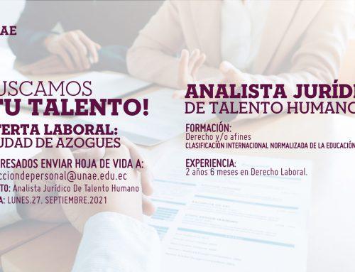 Oferta Laboral, Analista Jurídico de Talento Humano